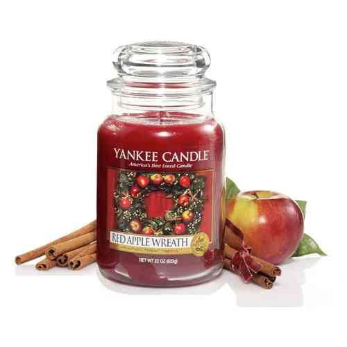 "Yankee Candle ""Red Apple Wreath"" Large 1120697E"