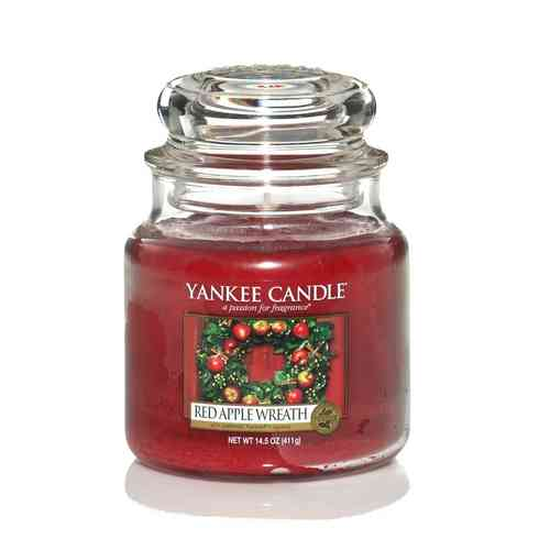 "Yankee Candle ""Red Apple Wreath"" Medium 1120697E"