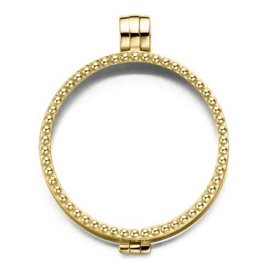 My imenso Medallion 33mm 33-0076-1 (925/Gold-pl.) Pearl