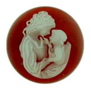 My imenso Insignia 33mm 33-0153 Mother & Child Agate Cameo