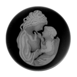My imenso Insignia 33mm 33-0131 Mother & Child Agate Black