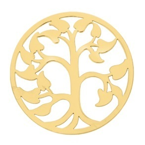 "My imenso Insignia 33mm 33-0594 Polished Cover ""Tree of Life"" (925/Gold-pl.)"