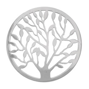 "My imenso Insignia 33mm 33-0479 Polished Cover ""Tree of Life"" (925/RHOD-PLATED)"