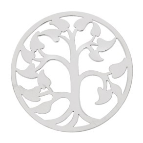 "My imenso Insignia 33mm 33-0593 Polished Cover ""Tree of Life"" (925/RHOD-PLATED)"