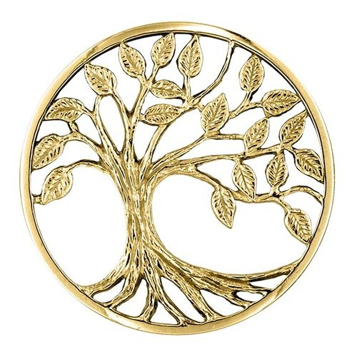 "My imenso Insignia 33mm 33-1363 3D-Cover ""Tree of Life"" (925/Gold-pl.)"