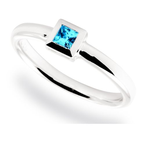 Fritsch Sterling Ring 0.010ct Ice Blue Topas A00525