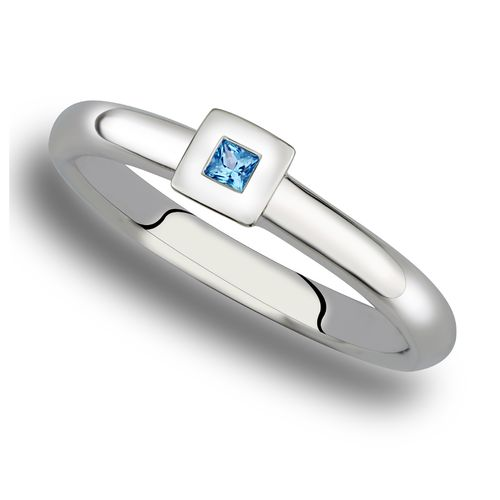 Fritsch Sterling Ring A00298 Ice Blue Topas 0,050ct